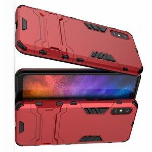 Hybrid Armor Ударопрочный чехол для Xiaomi Redmi 9A с подставкой - Красный