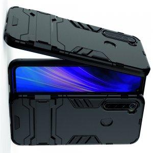 Hybrid Armor Ударопрочный чехол для Xiaomi Redmi Note 8T / Note 8 с подставкой - Черный
