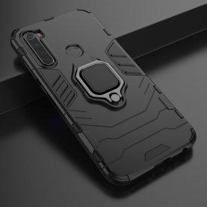 Hybrid Armor Ударопрочный чехол для Xiaomi Redmi Note 8 с подставкой - Черный