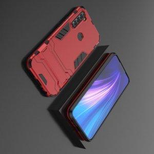 Hybrid Armor Ударопрочный чехол для Xiaomi Redmi Note 8T с подставкой - Красный