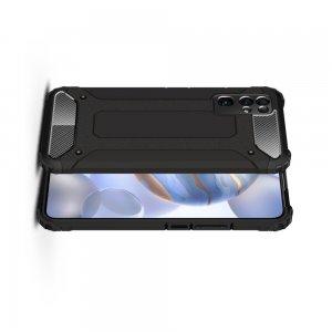 Hybrid двухкомпонентный противоударный чехол для Huawei Honor 30 - Черный