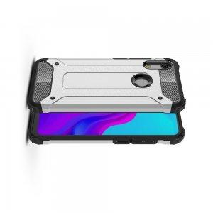 Hybrid двухкомпонентный противоударный чехол для Huawei Honor 8A - Серебряный