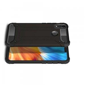 Hybrid двухкомпонентный противоударный чехол для Huawei Honor 9X Lite - Черный