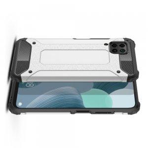 Hybrid двухкомпонентный противоударный чехол для Huawei P40 Lite - Серебряный