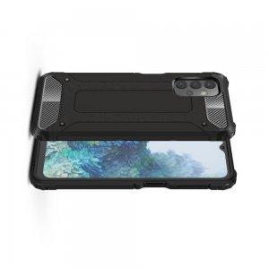 Hybrid двухкомпонентный противоударный чехол для Samsung Galaxy A32 - Черный