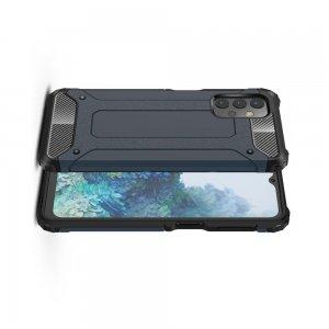 Hybrid двухкомпонентный противоударный чехол для Samsung Galaxy A32 - Синий