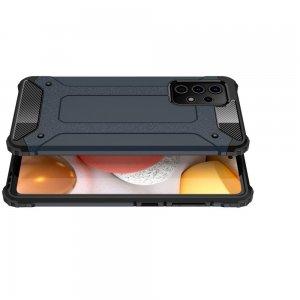 Hybrid двухкомпонентный противоударный чехол для Samsung Galaxy A72 - Синий