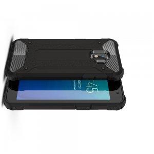 Hybrid двухкомпонентный противоударный чехол для Samsung Galaxy J2 Core (2020) - Черный