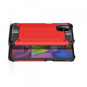 Hybrid двухкомпонентный противоударный чехол для Samsung Galaxy M51 - Красный
