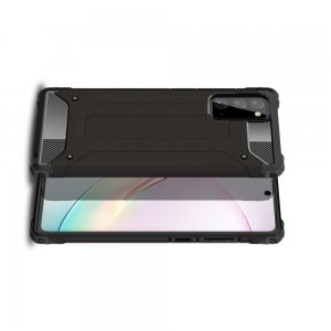 Hybrid двухкомпонентный противоударный чехол для Samsung Galaxy Note 20 - Черный