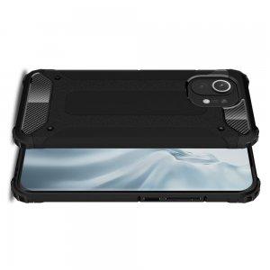 Hybrid двухкомпонентный противоударный чехол для Xiaomi Mi 11 - Черный