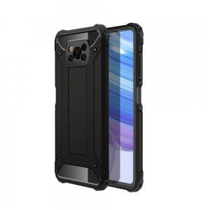 Hybrid двухкомпонентный противоударный чехол для Xiaomi Poco X3 NFC - Черный