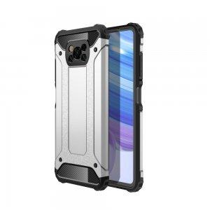 Hybrid двухкомпонентный противоударный чехол для Xiaomi Poco X3 NFC - Серебряный