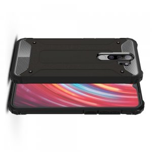 Hybrid двухкомпонентный противоударный чехол для Xiaomi Redmi Note 8 Pro - Черный