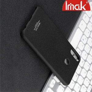 IMAK Cowboy Пластиковый чехол с кольцом подставкой и защитной пленкой для Asus Zenfone Max Pro M2 ZB631KL - Песочно-Черный