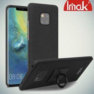 IMAK Cowboy Пластиковый чехол с кольцом подставкой для Huawei Mate 20 Pro - Песочно-Черный