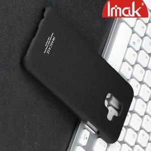 IMAK Cowboy Пластиковый чехол с кольцом подставкой и защитной пленкой для Samsung Galaxy A6 2018 SM-A600F - Песочно-Черный