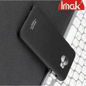 IMAK Cowboy Пластиковый чехол с кольцом подставкой и защитной пленкой для Samsung Galaxy J4 2018 SM-J400F - Песочно-Черный