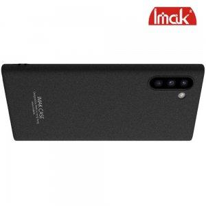 IMAK Cowboy Пластиковый чехол с кольцом подставкой и защитной пленкой для Samsung Galaxy Note 10 - Песочно-Черный