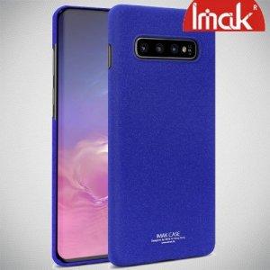 IMAK Cowboy Пластиковый чехол с защитной пленкой для Samsung Galaxy S10 - Синий