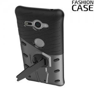 Защитный чехол с поворотной подставкой для Sony Xperia XZ2 Compact - Серый