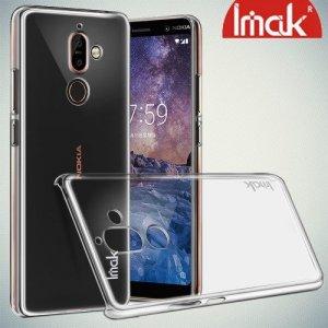 IMAK Crystal Прозрачный пластиковый кейс накладка для Nokia 7 Plus