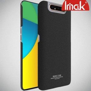 Imak Матовая пластиковая Кейс накладка для Samsung Galaxy A80 / A90 Песочно-Черный Ультратонкий