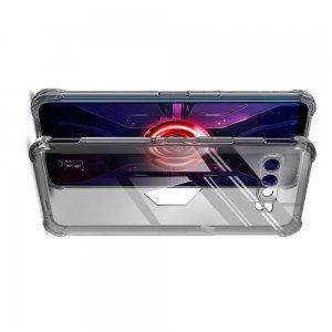 IMAK Shockproof силиконовый защитный чехол для Asus ROG Phone 3 ZS661KS прозрачный и защитная пленка