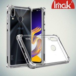 IMAK Shockproof силиконовый защитный чехол для Asus Zenfone 5Z ZS620KL / 5 ZE620KL прозрачный и защитная пленка