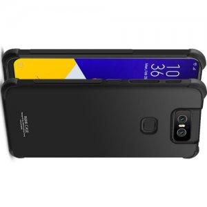 IMAK Shockproof силиконовый защитный чехол для Asus Zenfone 6 ZS630KL черный и защитная пленка