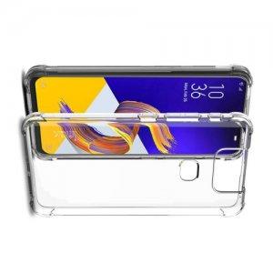 IMAK Shockproof силиконовый защитный чехол для Asus Zenfone 6 ZS630KL прозрачный и защитная пленка