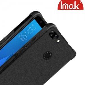 IMAK Shockproof силиконовый защитный чехол для Asus Zenfone Max Pro M2 ZB631KL песочно-черный и защитная пленка