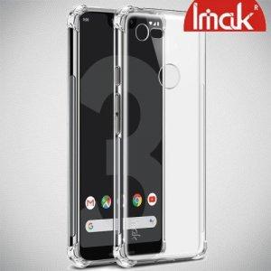 IMAK Shockproof силиконовый защитный чехол для Google Pixel 3 Lite прозрачный и защитная пленка