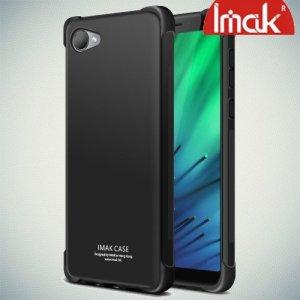 IMAK Shockproof силиконовый защитный чехол для HTC Desire 12 черный и защитная пленка