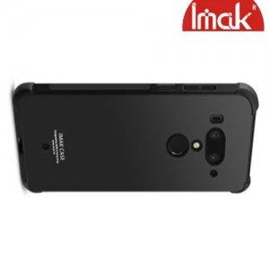 IMAK Shockproof силиконовый защитный чехол для HTC U12 Plus черный и защитная пленка