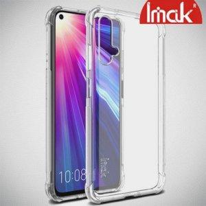 IMAK Shockproof силиконовый защитный чехол для Huawei Nova 5T прозрачный и защитная пленка