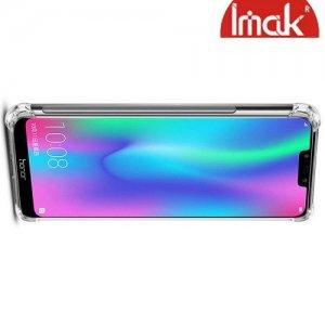IMAK Shockproof силиконовый защитный чехол для Huawei Honor 8C прозрачный и защитная пленка