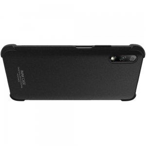 IMAK Shockproof силиконовый защитный чехол для Huawei Honor 9X / 9X Premium песочно-черный и защитная пленка