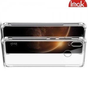 IMAK Shockproof силиконовый защитный чехол для Huawei Honor Play прозрачный и защитная пленка