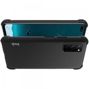 IMAK Shockproof силиконовый защитный чехол для Huawei Honor View 30 / View 30 Pro черный и защитная пленка