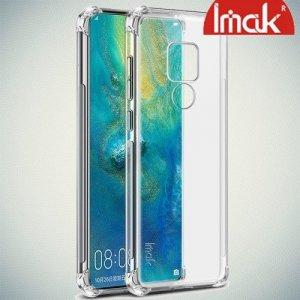 IMAK Shockproof силиконовый защитный чехол для Huawei Mate 20 прозрачный и защитная пленка