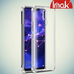 IMAK Shockproof силиконовый защитный чехол для Huawei Mate 20 lite прозрачный и защитная пленка