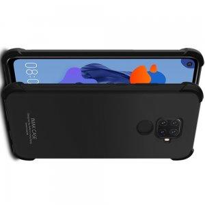 IMAK Shockproof силиконовый защитный чехол для Huawei Mate 30 Lite черный и защитная пленка