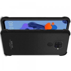 IMAK Shockproof силиконовый защитный чехол для Huawei Mate 30 Lite песочно-черный и защитная пленка