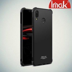 IMAK Shockproof силиконовый защитный чехол для Huawei Nova 3 черный и защитная пленка