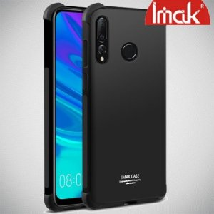 IMAK Shockproof силиконовый защитный чехол для Huawei P Smart 2019 черный и защитная пленка