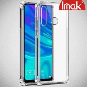 IMAK Shockproof силиконовый защитный чехол для Huawei P Smart 2019 прозрачный и защитная пленка