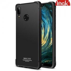 IMAK Shockproof силиконовый защитный чехол для Huawei P20 Lite черный и защитная пленка