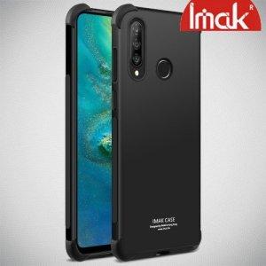 IMAK Shockproof силиконовый защитный чехол для Huawei P30 Lite черный и защитная пленка