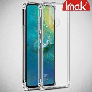 IMAK Shockproof силиконовый защитный чехол для Huawei P30 Lite прозрачный и защитная пленка
